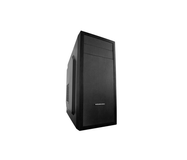 Modecom PC skříň DEIMOS BLACK MIDI, 1x USB 3.0, 2x USB 2.0, audio HD, černá, bez zdroje