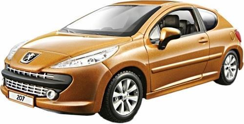 BBurago 1/24 Peugeot 207 1/24 Bijoux 18-22102 Yellow