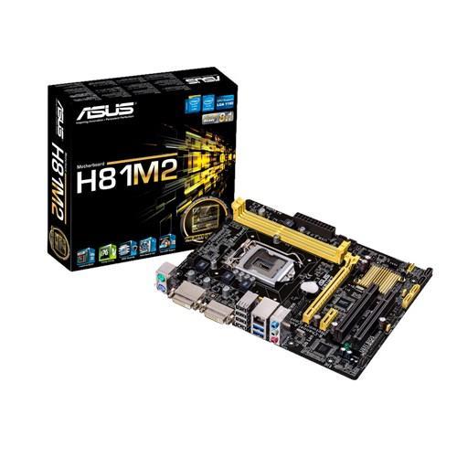 ASUS H81M2/C/SI, H81, 2xDIMM, Max. 16GB, DVI-D/DVI ports, Micro-ATX