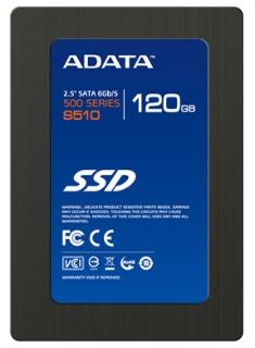 ADATA SSD S510 120GB 2.5'' SATA III, MLC (čtení: 550MB/s; zápis: 510MB/s), TRIM