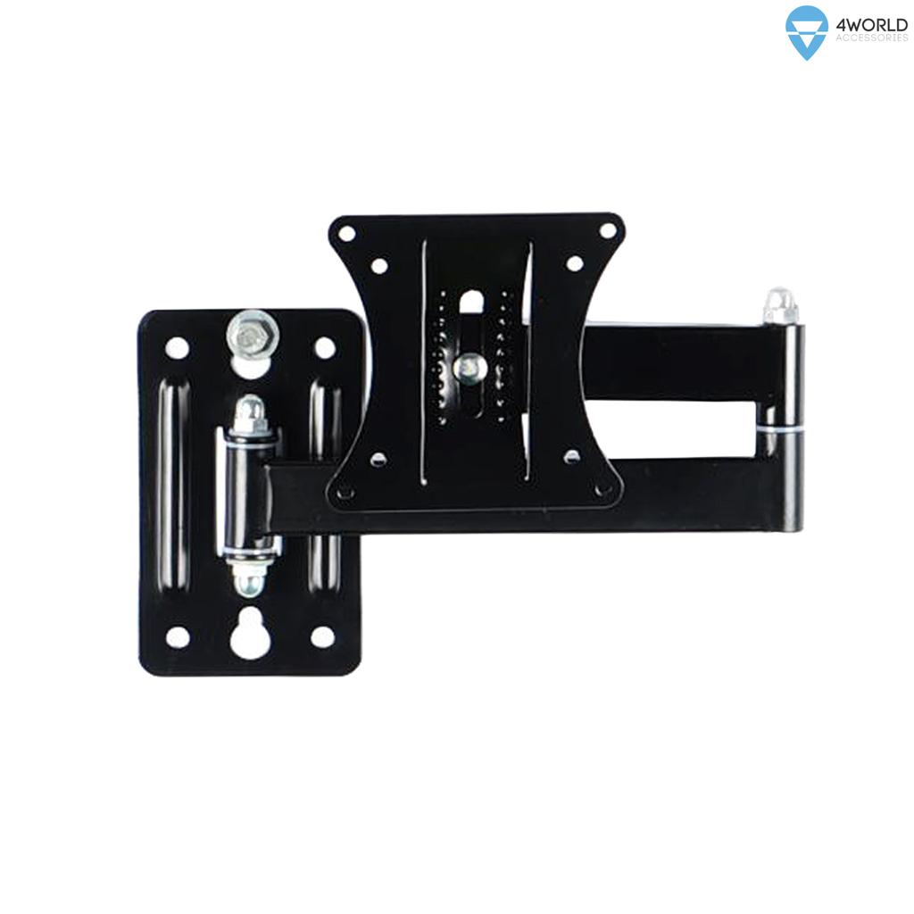 4World Otočný a sklopný držák pro LCD 15''-25'' rameno 33cm nosnost max.25kg BLK