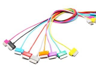 4World Kabel USB 2.0 pro Galaxy Tab přenos dat/nabíjení 1.0m růžový