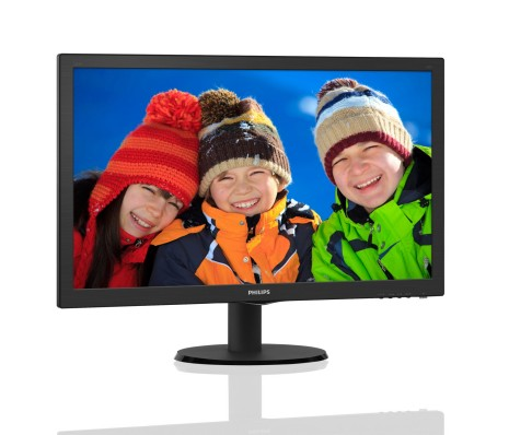 "Philips LCD 243V5QSBA 23,6""wide/1920x1080/8ms/10mil:1/VGA/DVI/LED"