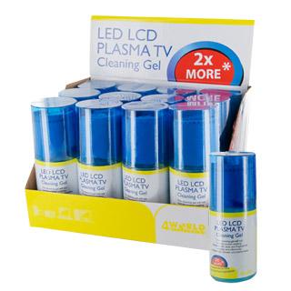 4World Čistící sada LED / LCD / PLASMA TV | 200 ml gel | hadřík