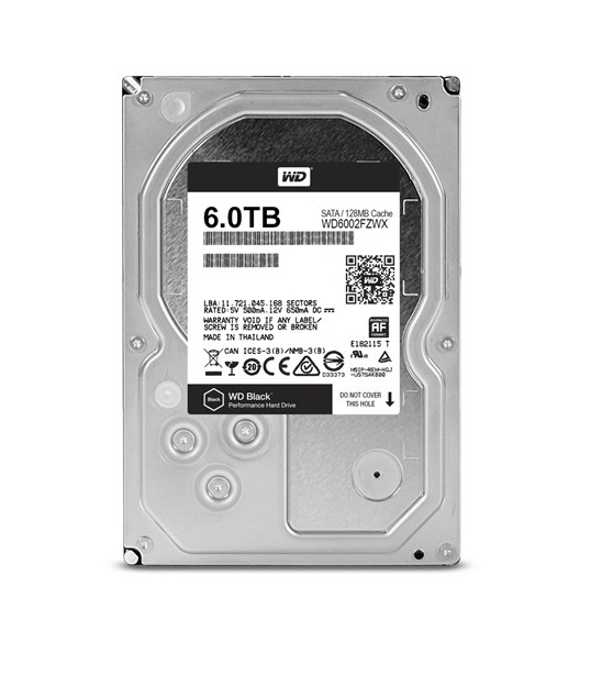 HDD 6TB WD6002FZWX Black 128MB SATAIII 7200rpm