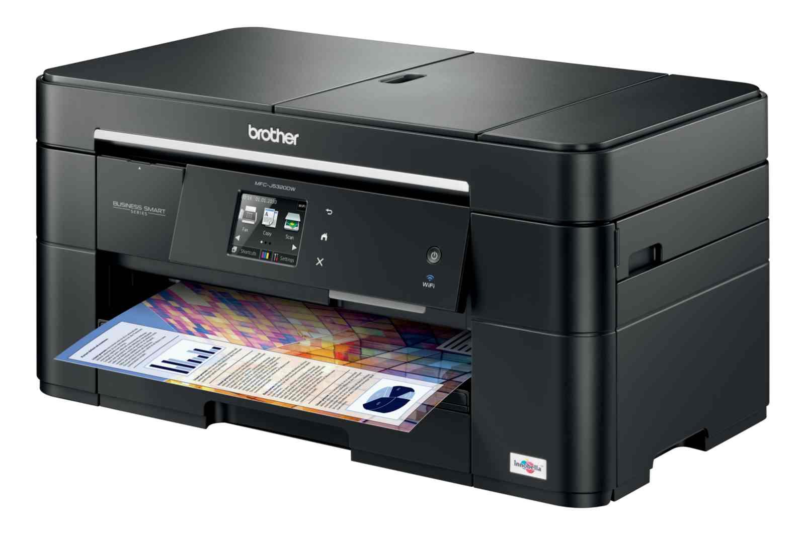 BROTHER multifunkce inkoustová MFC-J5320DWYJ1 - A3, A4 sken, 35ppm, 128MB, 1200x6000, USB, LAN, WiFi, duplex, ADF, 250l