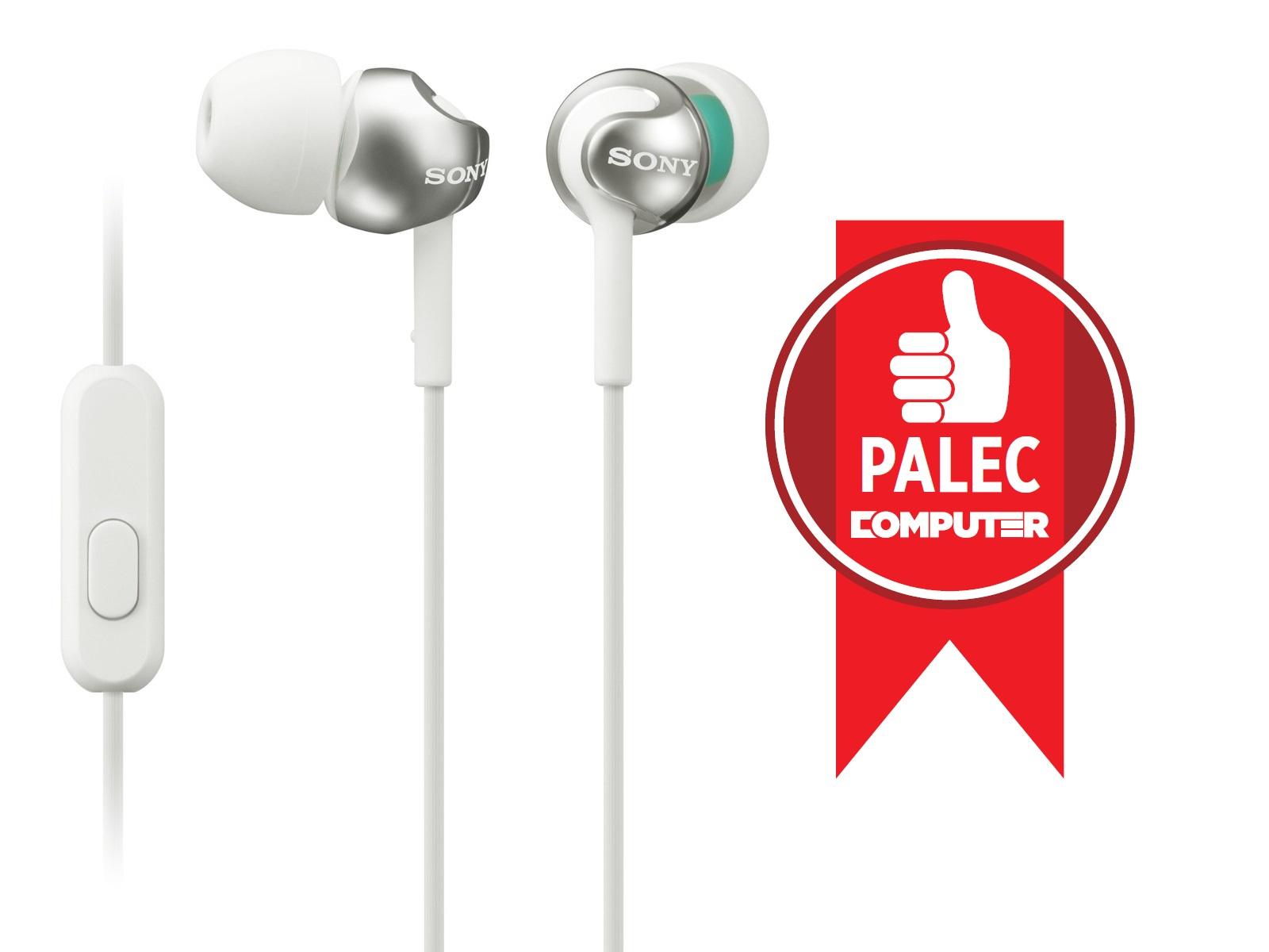 SONY MDR-EX110AP Sluchátka do uší s mikrofonem, rozsah 5 až 24000 Hz - White