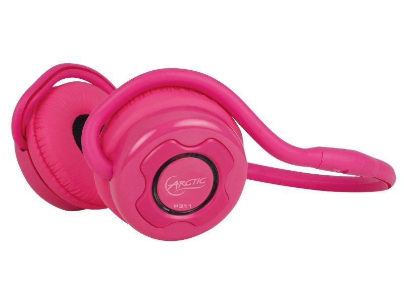 Arctic Sound P311 Bluetooth bezdrátová sluchátka s mikrofonem + pouzdro, růžová