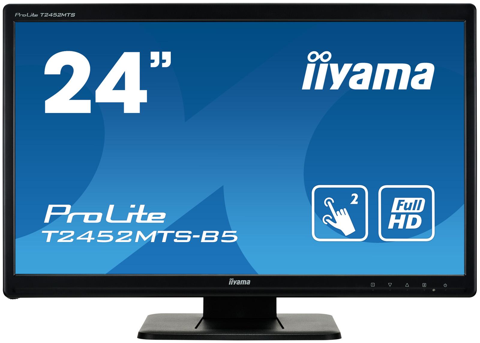 """24"""" iiyama T2452MTS-B5 -2ms,300cd,FullHD,16:9,VGA,DVI-D,HDMI,USB,repro,dotykový"""