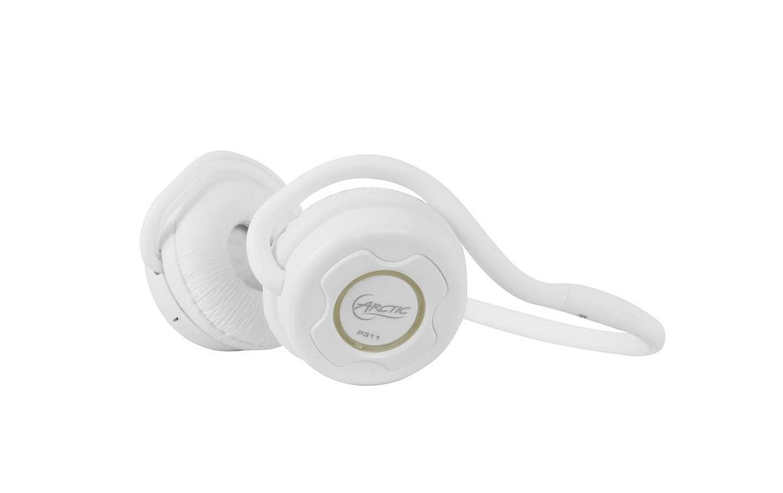 Arctic Sound P311 Bluetooth bezdrátová sluchátka s mikrofonem + pouzdro, bílá
