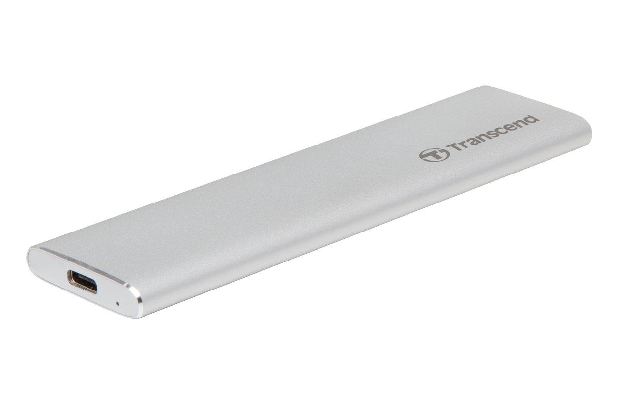 Transcend CM80 externí SSD rámeček, M.2 SATA SSD typ 2242/2260/2280, USB 3.0/USB-C, celohliníkový, stříbrný