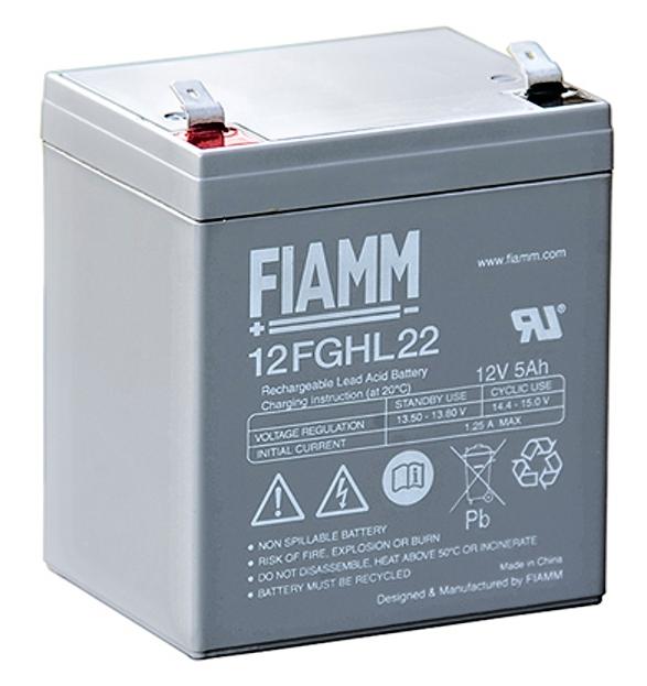 Fiamm olověná baterie 12FGHL22 12V/5Ah/živ.10let