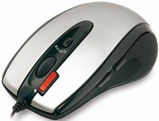 Počítačová myš A4tech EVO Glaser X6-70D,2xklik, USB, černo-stříbrná