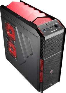 PC skříň Aerocool X-PREDATOR X1 Devil, 2xUSB 3.0, červená (bez zdroje)