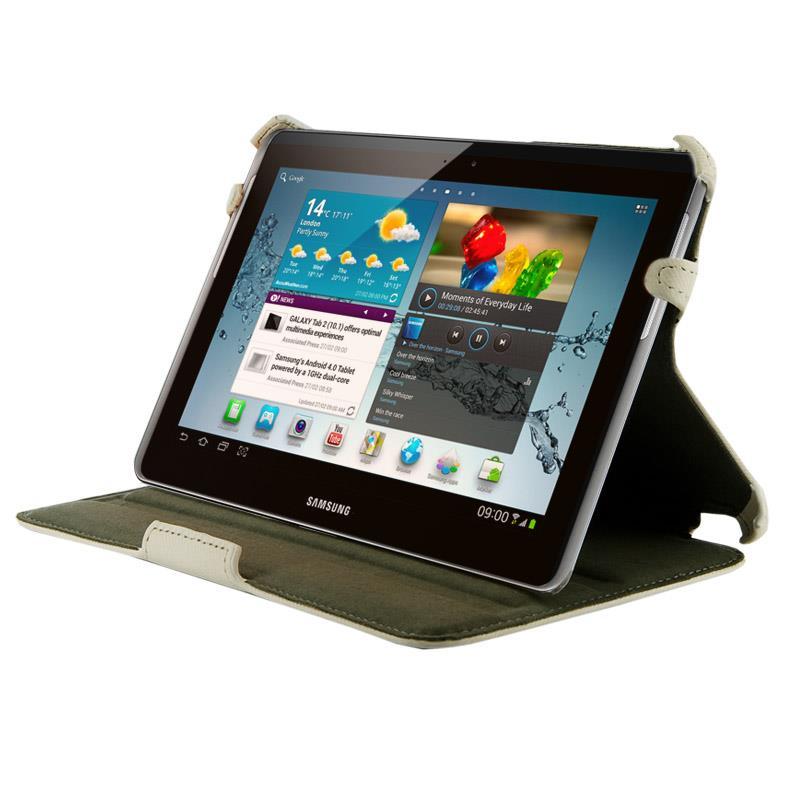 4World Pouzdro - stojan pro Galaxy Tab 2, vodotěsný, 7'', bílý