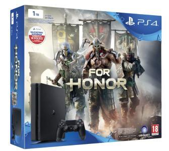 PS4 1TB D Chassis Black SLIM + For Honor