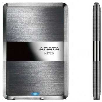 ADATA HE720 DashDrive™ Elite 500GB ext. slim HDD, USB 3.0, nerez, OneTouchBackup