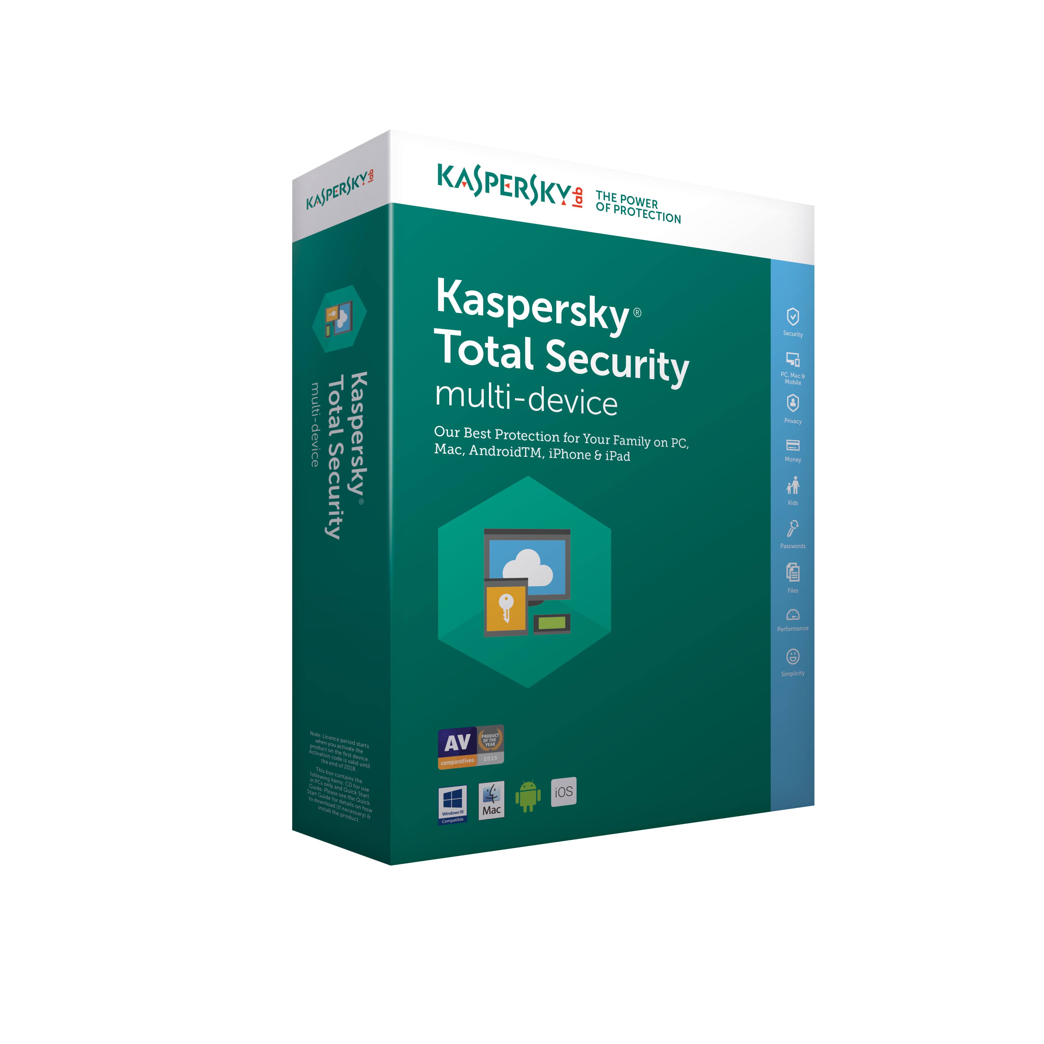 Kaspersky Total Security multi-device 2017 CZ, 3 zařízení, 12 měsíců - (ESD)