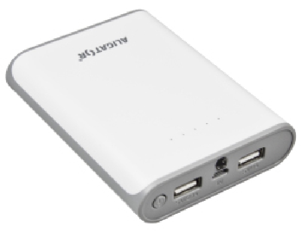 Aligator POWER BANK PB100 se svítilnou 10400mAh white