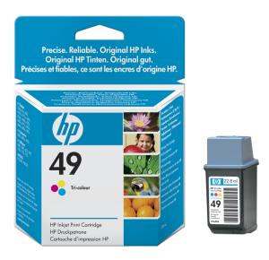 Tisková náplň HP 49 3barevná | 22.8ml | dj350c/cbi,610c/640c/656c,690