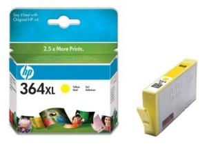 HP 364 XL - žlutá inkoustová kazeta, CB325EE
