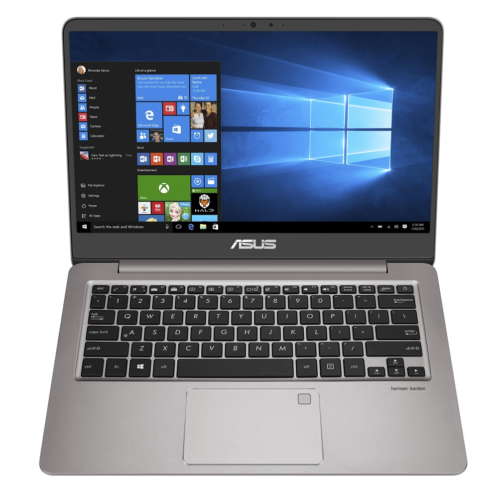 "ASUS UX410UA-GV018T i5-7200U/8G/512G SSD SATA3/UMA/14"" FHD/W10/Gray"