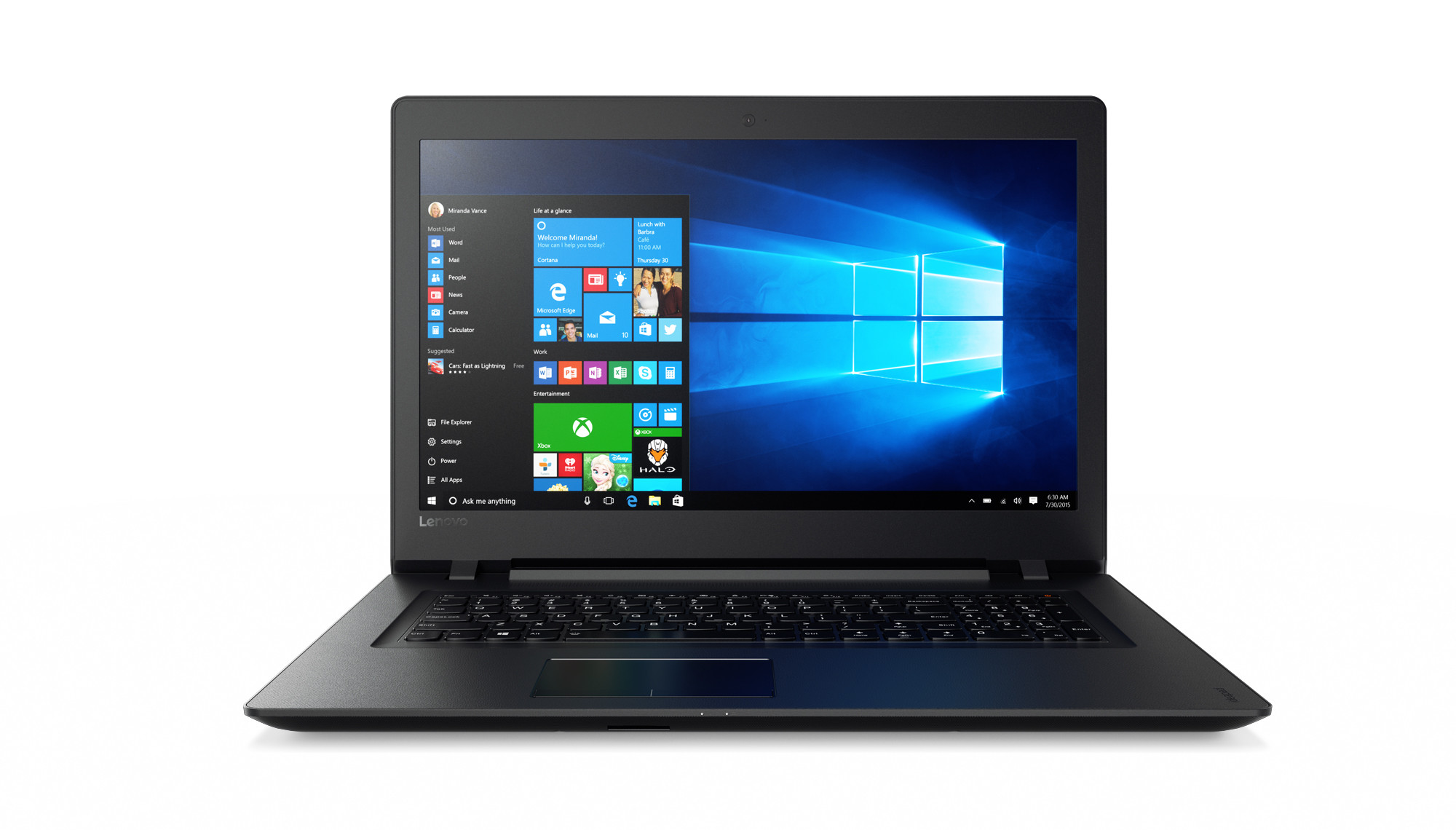 "Lenovo IdeaPad 110-17ACL AMD A8-7410 2,50GHz/4GB/1TB/17,3"" HD+/DVD-RW/WIN10 černá 80UM002YCK"