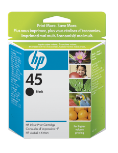HP no. 45 - černá ink. kazeta velká, 51645A