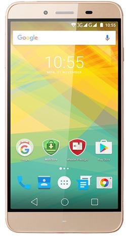 "PRESTIGIO Grace Z3, 5.3"" HD IPS, Dual SIM, Android 6.0, Quad Core 1,3GHz, 1280*720, 8GB ROM,1GB RAM, 8Mpx, zlatý"