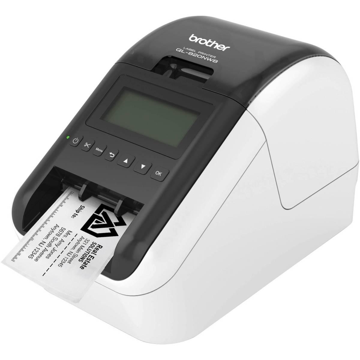 Brother QL-820NWB tiskárna samolepících štítků, WiFi, Ethernet, Bluetooth