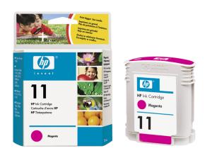 HP C4837A Ink Cart No.11 pro BI 2200,2250,CP1700,28ml, Magenta