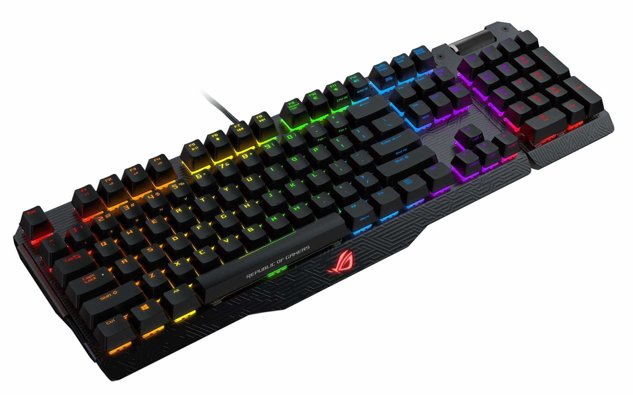 ASUS ROG MA01 Claymore RED/CHERRY/US - RGB mech. keyboard w/ LED lightning US layout + dárek Echelo