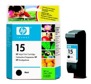HP C6615NE Ink Cart No.15 pro DJ 84x,920,940,PSCx50 14ml, Black