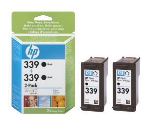 HP C9504EE Ink Cart No.339 pro DJ 5740,6540, 2x21ml, Black, (C8767E 2x)