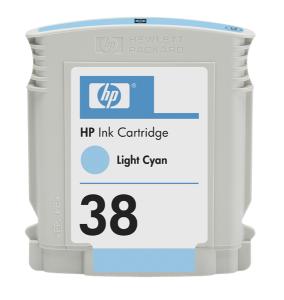HP 38 Light Cyan Ink Cart, 27 ml, C9418A