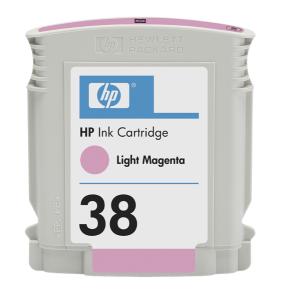 HP 38 Light Magenta Ink Cart, 27 ml, C9419A
