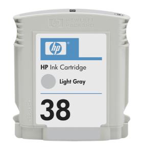 HP 38 Light Grey Ink Cart, 27 ml, C9414A