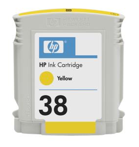 HP 38 Yellow Ink Cart, 27 ml, C9417A