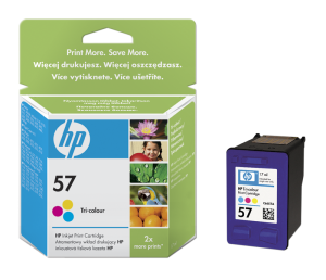 HP Color Ink Cartridge No. 57, 2-pack, C6657A