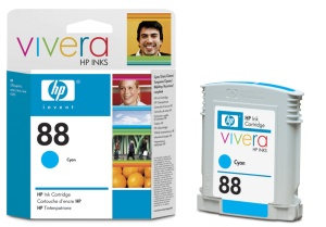 HP C9386AE Ink Cart No.88 pro OJ K550, 9ml, Cyan