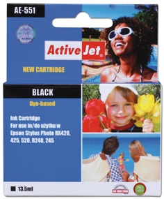 Inkoust ActiveJet AE-551 | Black | 13,5 ml | Chip | Epson T0551