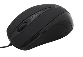Esperanza EM102K SIRIUS optická myš, 800 DPI, USB, blister, černá