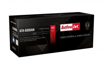 Toner ActiveJet AT-600B | černý | 2500 str. | Remanuf. + new OPC | HP Q6000A