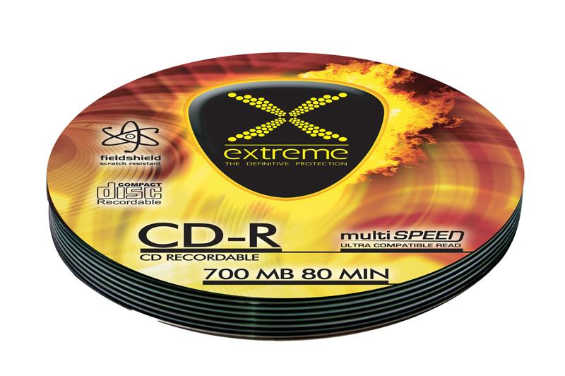 Extreme CD-R [ Soft Pack 10 | 700MB | 52x | Silver ]