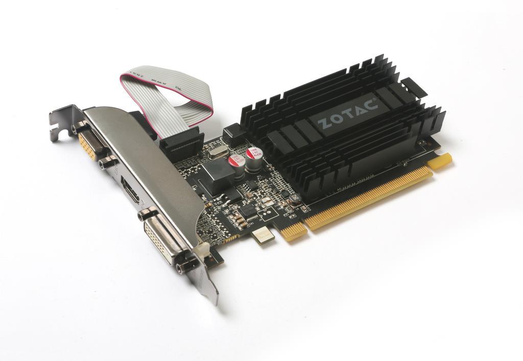 ZOTAC GeForce GT 710, 1GB DDR3 (64 Bit), HDMI, DVI, VGA