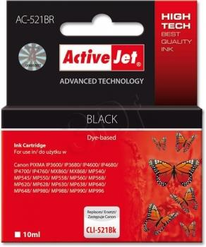 Ink ActiveJet AC-521BR | black | 10 ml | Canon CLI-521Bk