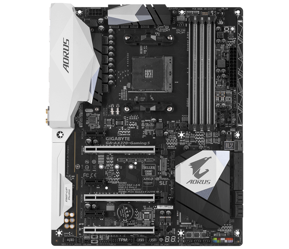GIGABYTE MB Sc AM4 GA-AX370-Gaming 5, AMD X370, 4xDDR4, HDMI, ATX