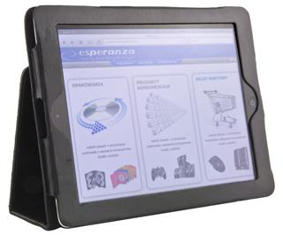 Esperanza ET168 LIVORNO pouzdro pro iPad 2/iPad NEW (iPad 3), eko kůže, černé