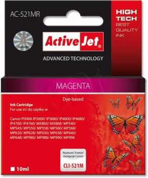 Ink ActiveJet AC-521MR | Magenta | 10 ml | Canon CLI-521M