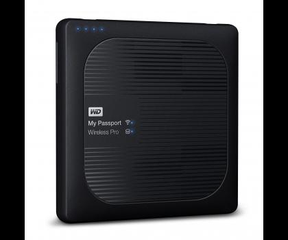 WD My Passport Wireless Pro, 2.5'' externí HDD 1TB, WiFi, černý